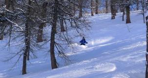 Italy tree skiing